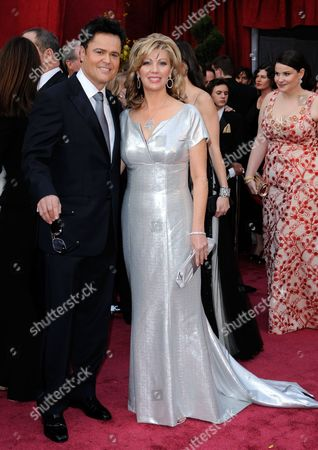 Stock Picture of Donnie Osmond, Debbie Osmond Donny Osmond and his wife Debbie Osmond arrive at the 80th Academy Awards at the Kodak Theatre in Los Angeles