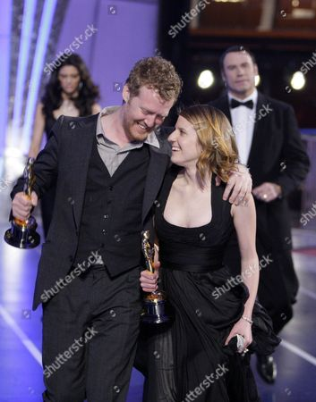 "Glen Hansard, Marketa Irglova Glen Hansard and Marketa Irglova, right, leave the stage after winning best original song for ""Once"" at the 80th Academy Awards in Los Angeles"