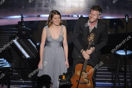 Glen Hansard Glen Hansard and Marketa Irglova, left, perform during the 80th Academy Awards at the Kodak Theatre in Los Angeles