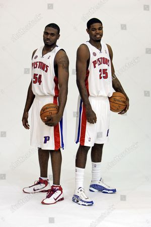 Editorial picture of Pistons Wallace Basketball, Auburn Hills, USA