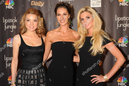 "Sara Gettelfinger, Kelly Levesque, and Sarah Joy Kabanuck The ""Three Graces,"" Sarah Joy Kabanuck, left, Sara Gettelfinger, center, and Kelly Levesque, arrive for the New York premiere of the NBC-TV drama series ""Lipstick Jungle"