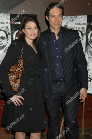 """Kimberly Guilfoyle, Eric Villency Kimberly Guilfoyle, left, and Eric Villency arrive for the New York premiere of """"Mr. Untouchable"""