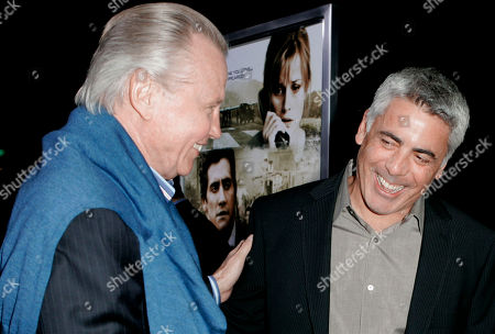 "Jon Voight, Adam Arkin Jon Voight, left, and Adam Arkin share a moment as they arrive to the premiere of ""Rendition"" in Beverly Hills, Calif"