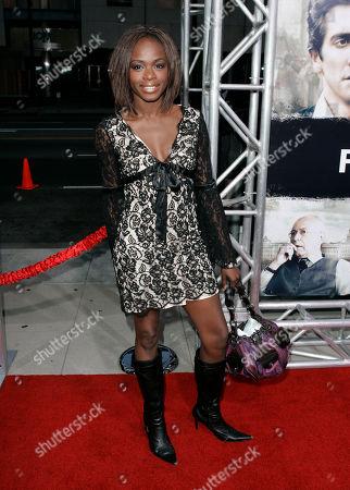 "Nzinga Blake Actress Nzinga Blake arrives to the premiere of ""Rendition"" in Beverly Hills, Calif"