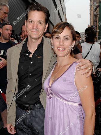 """Frank Whaley Frank Whaley and his wife Heather Bucha attend the premiere of """"Rocket Science"""" in New York"""
