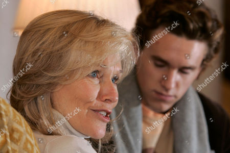 Stock Photo of Christian Scheider, Brenda Siemer Christian Scheider, 18, right, looks on as his mother Brenda Siemer, widow of actor Roy Scheider, discusses the late actor's life in Little Rock, Ark