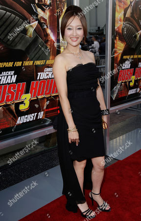 """Stock Image of Youki Kudoh Actress Youki Kudoh arrives to the premier of """"Rush Hour 3"""" at Mann's Chinese Theater in the Hollywood section of Los Angeles"""