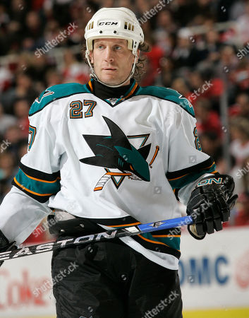 Jeremy Roenick San Jose Sharks center Jeremy Roenick waits for a face off against the Detroit Red Wing sin the second period of an NHL hockey game, in Detroit