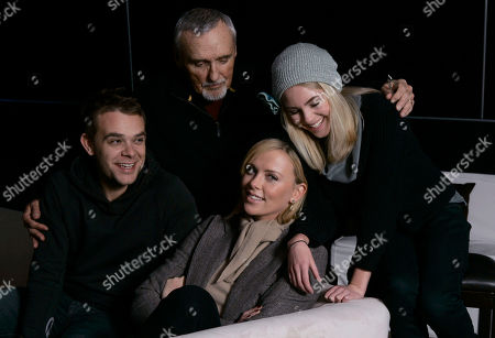Nick Stahl, Dennis Hopper, Anna Sophia Robb,Charlize Theron The cast of Sleepwalking, from background left, Nick Stahl, Dennis Hopper, Anna Sophia Robb and Charlize Theron, front center, are seen before an inteview in Park City, Utah, on