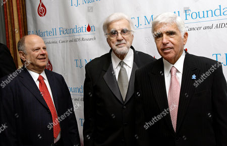 Tony Martell, Joel A. Katz, Mel Karmazin Tony Martell, center, stands next to tonight's honorees Joel A. Katz, left, chairman of Greenberg Trauig's Global Entertainment Law Practice, and Mel Karmazin, right, CEO of Sirius Satellite Radio, at the 32nd Annual T.J. Martell Foundation dinner in New York