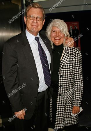 """Jeff Greenfield; Ellen Levine Jeff Greenfield and Ellen Levine arrive at the premiere of """"The Hunting Party"""" at the Paris Theater in New York"""