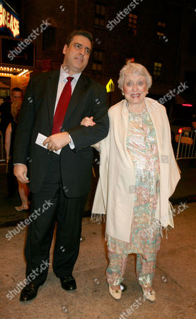 """Celeste Holm, Frank Basile Celeste Holm and her husband Frank Basile arrive to the Broadway opening of Manhattan Theatre Club's """"Mauritius,"""", in New York, which features actors F. Murray Abraham, Dylan Baker, Bobby Cannavale, Katie Finneran and Alison Pill"""