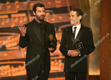 Duncan Sheik; Steven Sater Duncan Sheik, left, and Steven Sater accept an award at the 61st Annual Tony Awards in New York