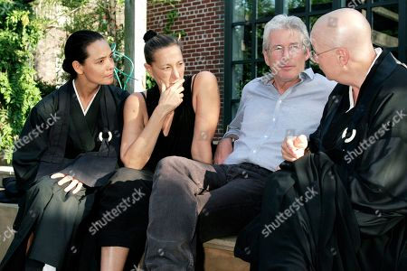 Richard Gere Actor Richard Gere, center, discusses Tibetan Buddhism with, from left to right, Sonja Nuttall, Donna Karan and Zen Master Roshi Pat O'Hara at Donna Karan's Urban Zen Initiative. The Urban Zen Initiative is a wellness forum aimed at merging Eastern and Western medicine in order to improve patient care, in New York City