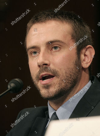 """Jeremy Scahill, author of Blackwater: The Rise of the World's Most Powerful Mercenary Army, delivers testimony to the Senate Democratic Policy Committee during a hearing entitled """"Abuses in Private Security and Reconstruction Contracting in Iraq: Ensuring Accountability, Protecting Whistleblowers,"""" on Capitol Hill in Washington"""