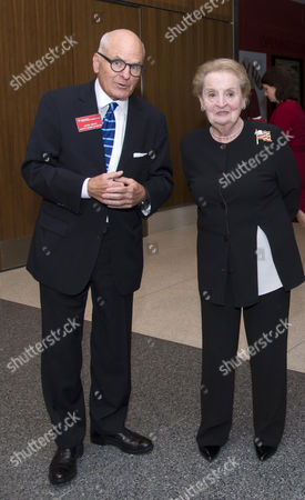 John Gray, the Director of the National Museum of American History and Former Secetary of State Madeleine Albright