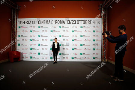 Director Miwa Nishikawa poses for photographers during a photocall for the movie ' Nagai Iiwake ' (The Long Excuse), at the Rome Film festival, in Rome