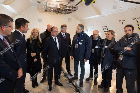 Jane Hartley, Francois Hollande and Augustin de Romanet