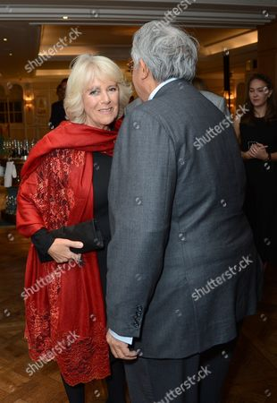 Camilla Duchess of Cornwall and Sir David Tang