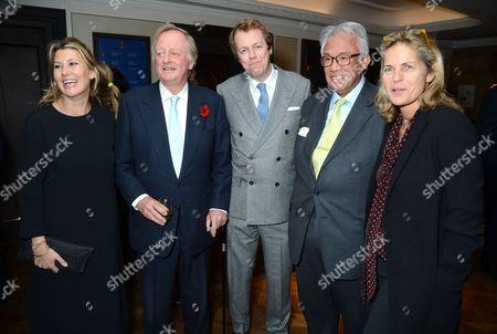Stock Image of Sara Buys, Andrew Parker Bowles, Tom Parker Bowles, Sir David Tang and Lucy Tang