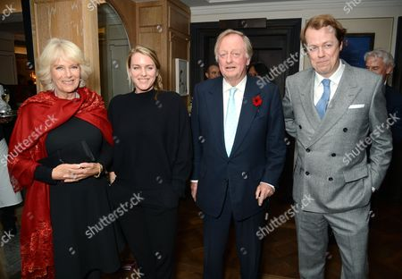 Camilla Duchess of Cornwall, Laura Lopes, Andrew Parker Bowles and Tom Parker Bowles