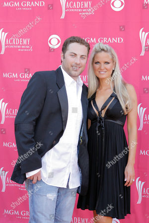 Jay McCraw, Erica Dahm Jay McCraw and Erica Dahm arrive at the 42nd Annual Academy of Country Music Awards, in Las Vegas