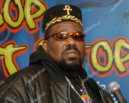 Hip hop DJ pioneer Afrika Bambaataa speaking at a news conference in New York. Bambaataa is speaking out to deny accusations from men who claim he sexually abused them as teenagers at the peak of his music career in the 1980s. Two men have publicly come forward in recent weeks to accuse the rapper, and three others have made allegations anonymously in news reports