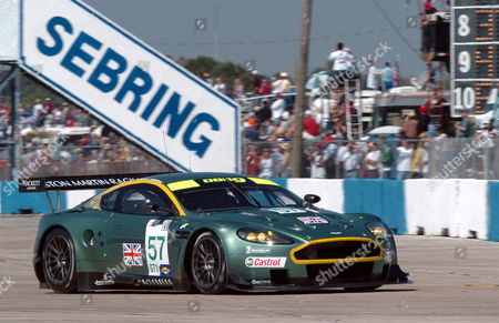 TURNER Darren Turner of the United Kingdom heads into turn 1 in an Aston Martin during the 53rd annual American Le Mans Series 12 Hours of Sebring at Sebring International Raceway, in Sebring, Fla. The car finished fourth overall and won the GT1 class
