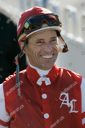 Russell Baze Jockey Russell Baze smiles before the third race, in which he finished fifth, at Bay Meadows in San Mateo, Calif., . Baze won the fourth race for his 9,531st victory to eclipse Laffit Pincay Jr.'s career record