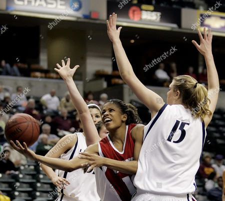 BANKS BROWN Wisconsin's Janese Banks puts up a shot against Penn State's Amanda Brown (15) during the second half of an opening round basketball game in the Women's Big 10 tournament in Indianapolis, . Penn State defeated Wisconsin 80-73