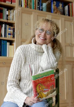 """Stock Photo of Mary Pope Osborne Mary Pope Osborne, author of the best selling """"Magic Tree House"""" series children's books, poses for a photograph at her home in Goshen, Conn"""