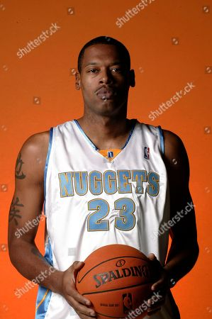 Marcus Camby Denver Nuggets' Marcus Camby poses for a portrait, in Denver