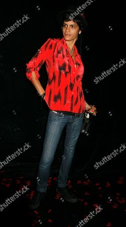 Stock Image of Watchf AP A ENT NY USA NYWWP Fashion Baby Phat Model Omahyra Mota arrives to the showing of Kimora Lee Simmons' Baby Phat fall 2007 collection, during Fashion Week in New York