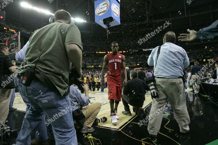 Mike Conley Jr Ohio State guard Mike Conley Jr. (1) walks off the court after losing 84-75 to Florida in the men's championship basketball game at the Final Four in the Georgia Dome in Atlanta