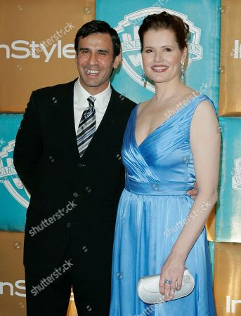 Geena Davis Geena Davis and her husband, Dr. Reza Jarrahy, arrive for the In Style and Warner Bros. party following the 64th Annual Golden Globe Awards, in Beverly Hills, Calif