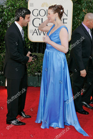Geena Davis Geena Davis arrives with her husband Dr. Reza Jarrahy for the 64th Annual Golden Globe Awards, in Beverly Hills, Calif