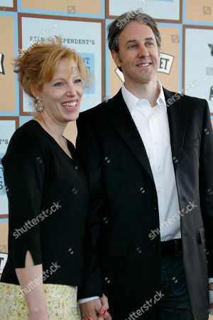 "Angus MacLachlan Angus MacLachlan, nominated for Best First Screenplay for ""Junebug,""arrives with an unidentified guest at the Independent Spirit Awards, in Santa Monica, Calif"