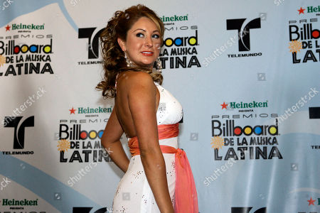 Geraldine Bazan Actress Geraldine Bazan poses for photos at the Latin Billboard awards ceremony in Hollywood, Fla., Thursday, April 27,2006