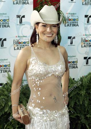 Diana Reyes Latin singer Diana Reyes poses on the red carpet at the Latin Billboard Awards in Hollywood, Fla