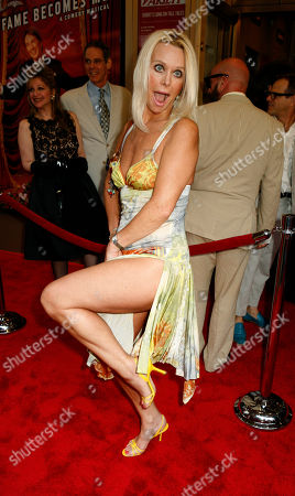 """Stock Picture of TRICIA WALSH-SMITH Actress Tricia Walsh-Smith arrives at the opening night of the musical comedy """"Martin Short: Fame Becomes Me,"""", in New York"""