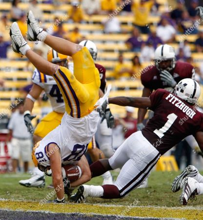 Editorial photo of MISSISSIPPI ST LSU FOOTBALL, BATON ROUGE, USA