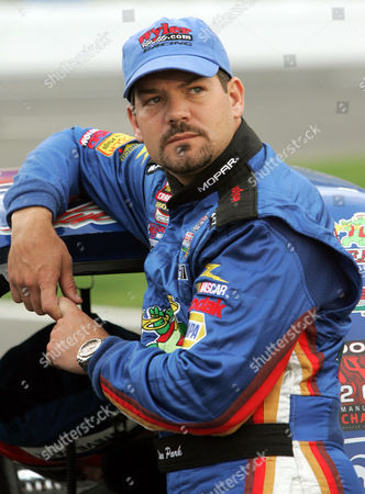 PARK NASCAR Craftsman Truck Series driver Steve Park watches from pit road prior to his qualifying run at Lowe's Motor Speedway in Concord, N.C., . Mike Skinner won the pole position for Friday's Quaker Steak Lube 200 NASCAR Truck Series race with a speed of 183.051 mph