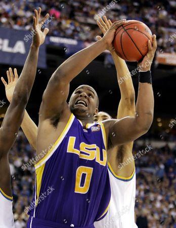 Glen Davis LSU's Glen Davis grabs a rebound against UCLA during their Final Four semifinal basketball in Indianapolis