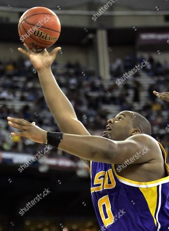Glen Davis LSU's Glen Davis goes to the bucket against UCLA during their Final Four semifinal basketball in Indianapolis