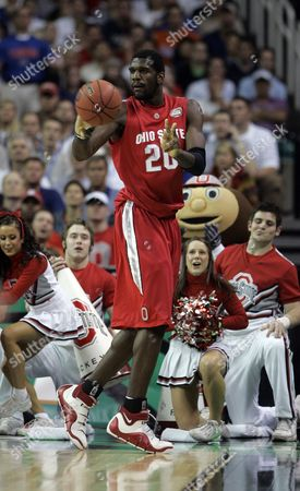 Greg Oden Ohio State's Greg Oden possess the ball in the Final Four basketball championship game agsainst Florida at the Georgia Dome in Atlanta