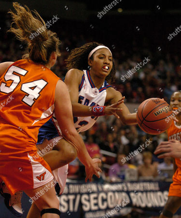 DANT GIBSON DePaul's Jenni Dant drives to the basket in the last minute of the game as Virginia Tech's Erin Gibson defends during their NCAA tournament first-round game, in College Park, Md. DePaul won 79-78