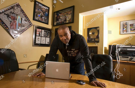 Stock Picture of Hip-hop mogul Chris Lighty in his office in New York. Lightly died of an apparent gunshot wound on at his home in the Bronx borough of New York. He was 44. Lighty was the man behind rap's leading figures, helping them not only attain hit records, but lucrative careers outside of music. He had been a part of the rap scene for decades, working with pioneers like LL Cool J, KRS-One before starting his own management company, Violator