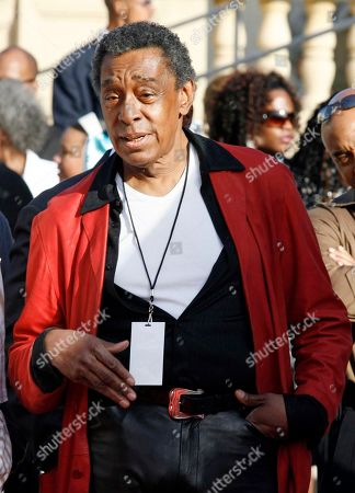 """Don Cornelius Shows """"Soul Train"""" creator and producer Don Cornelius during arrivals at the 21st Annual Soul Train Music Awards, in Pasadena, Calif. Cornelius has been arrested on suspicion of domestic violence, police said"""