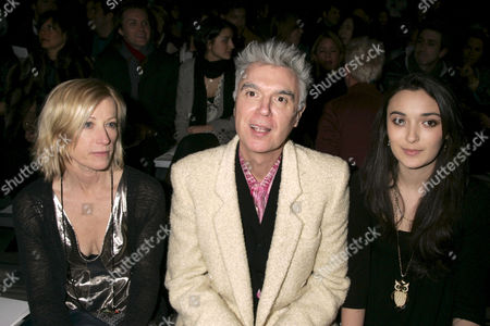 Cindy Sherman, David Byrne and daughter Malu Valentine Byrne