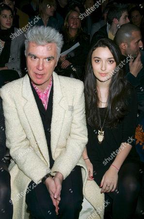 David Byrne and daughter Malu Valentine Byrne